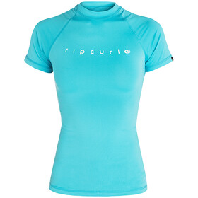 Rip Curl Sunny Rays Relaxed Maglietta Anti Uv A Maniche Corte Donna, light blue